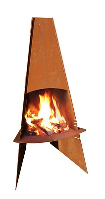 Aduro Fireplace, corten steel